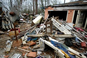 Waveland, MS, January 28, 2006 -- Hurricane Katrina made landfall at this small Mississippi coastal town. Leif Skoogfors/FEMA Photo