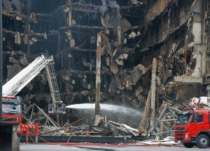 a large fire scene investigation