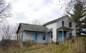 condemned and abandoned home