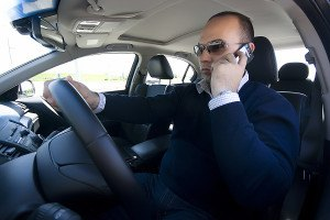 driver on cell phone