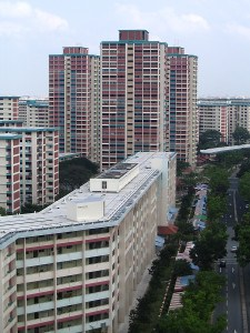High rise apartments in Singapore