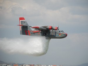 Canadair waterscooper firefighting airplane
