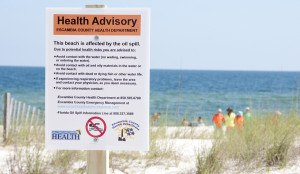 Florida beach closed due to the2010 oil spill