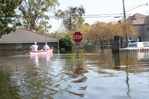Hurricane Katrina flooded neighborhoods