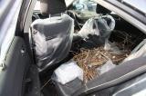 Debris in car after Superstorm Sandy