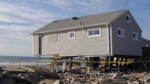 This home facing Misquamicut Beach was damaged following Hurricane Sandy in Westerly, Rhode Island. FEMA/Robert Rose