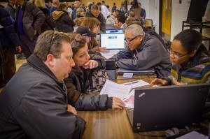 East Coast residents seek advice after Sandy. Photo by Liz Roll/FEMA