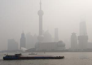Air pollution over Shanghai, China