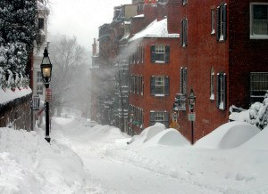 Boston after blizzard