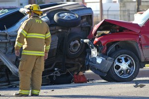 emergency personnel respond to accident scene