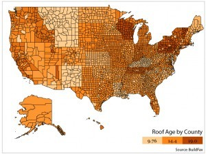 Roof Age Heat Map - Part 1 Graphic