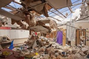 Alabama high school damaged by April 27, 2011 tornado. Photo by Christopher Mardorf / FEMA.