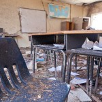 Tornado damaged classroom in the Tower Elementary school in Moore, Oklahoma. An F5 tornado struck the area on May 20th, causing widespread destruction. Andrea Booher/FEMA