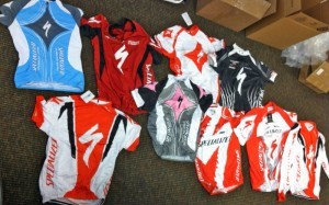 counterfeit cycling apparel photo by HSI