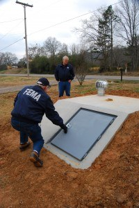 Arkansas storm shelter. Photo: Charles S. Powell/FEMA