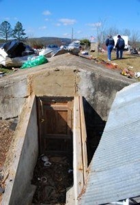 Arkansas storm shelter built in 1925. Photo: Charles S. Powell/FEMA