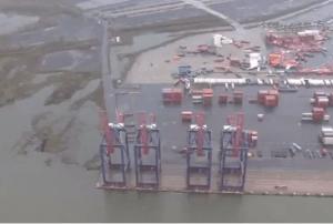 Sandy port damage