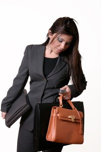 busy female executive