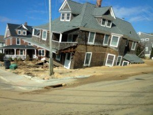 This oceanfront home in Mantoloking, N.J., was pushed from its foundation after Hurricane Sandy reached the mainland United States on Oct. 29, 2012. Photo: Patrick Lynett/USC
