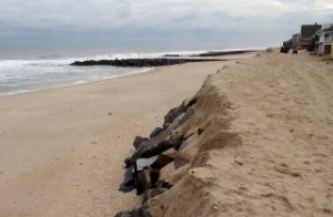 Relic seawall in Bay Head, N.J. Photo: Jennifer Irish/Virginia Tech