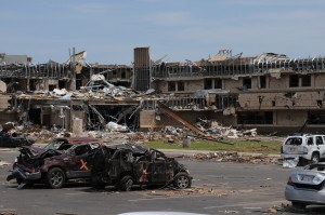 The Moore Medical Center, destroyed in the May 20 tornado, is scheduled for demolition. George Armstrong/FEMA