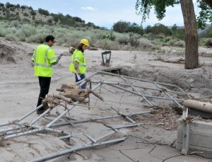 New Mexico flooding damage. FEMA/Earl Armstrong