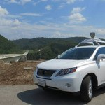 A self-driving Google Car visited the VTTI Smart Road. Photo: VTTI