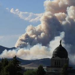 Corral fire. Photo: Inciweb/KXLH, Helena