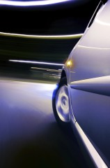 LRC studied swiveling or bending headlights that direct light into roadway curves.