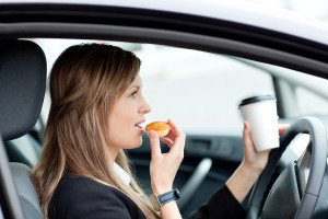 snacking while driving