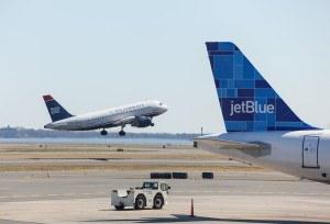 airplane at Logan Airport