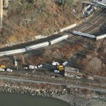 Metro North train derailment. Photo: NTSB