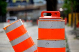 road construction pylons