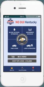 no DUI Kentucky mobile phone app
