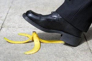 slip and fall on a banana skin