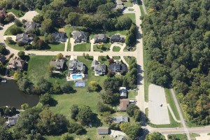 Ultra-high-resolution aerial images can provide varied views of a property to give a complete picture of the details necessary for underwriting. Photo: Verisk
