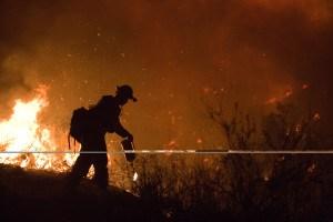 Northern California Poomacha wildfire. FEMA and Andrea Booher