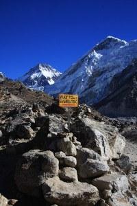 Everest base camp sign, Nepal