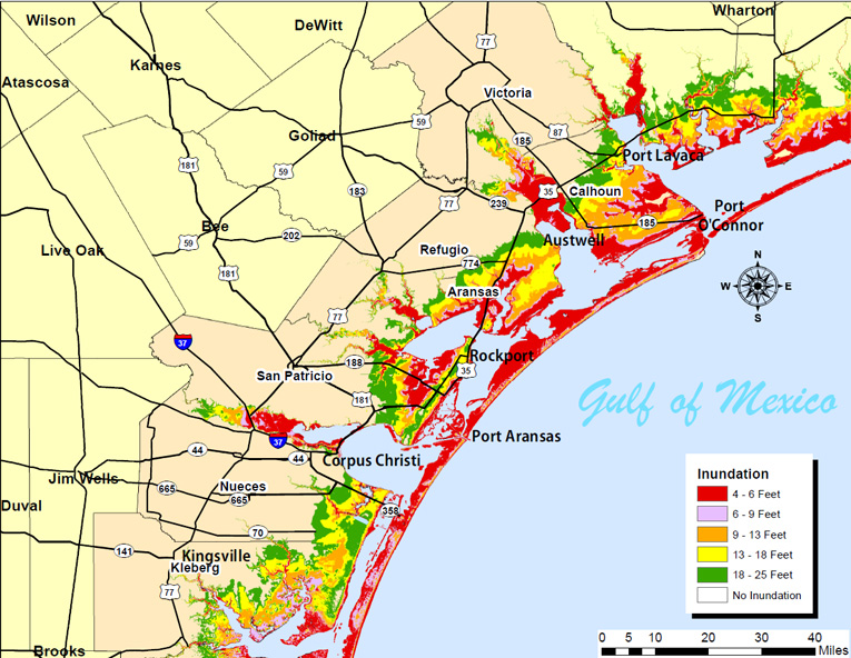 Storm surge map. Credit: NOAA/NWS