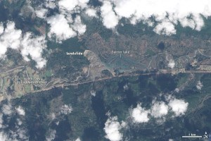 After Oso, Washington landslide on March 23, 2014 Image NASA