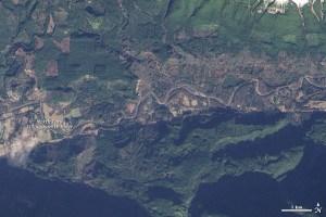 Before Oso, washington landslide on January 18, 2014 Image NASA