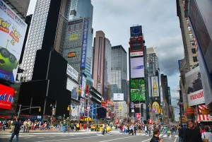 NEW YORK CITY - SEP 5: Times Square, featured with Broadway Thea