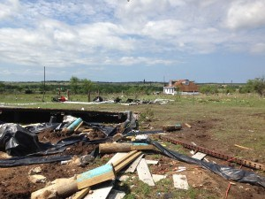 Ashworth home moved off of its pilings. Photo: NWS-Austin