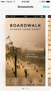 """""""Boardwalk Stories from Sandy"""" app"""