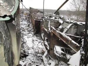 Closeup of fire damage. Photo: Chubb