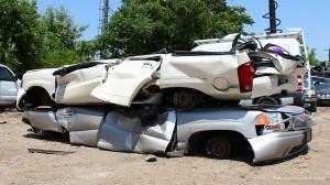 Crushed vehicles