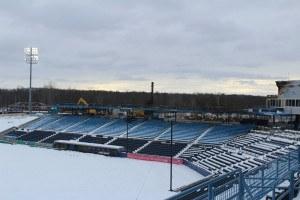 Stadium after fire. photo: Chubb