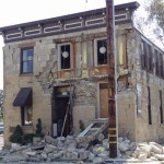 Building damaged in Napa, Calif. after quake. Photo: Amy O'Connor