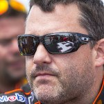 LOMG POND, PA - AUG 04, 2013:  Tony Stewart (14) takes to the tr