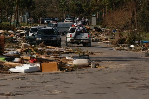 Urban Search and Rescue Teams begin working the debris filled neighborhoods in Pensacola. FEMA Photo/Jocelyn Augustino